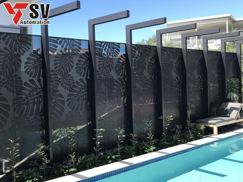 Mẫu vách ngăn hồ bơi chuyên dùng cho những căn hộ có diện tích nhỏ