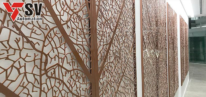 Tấm ốp trang trí tường đẹp mắt được cắt bằng công nghệ Laser