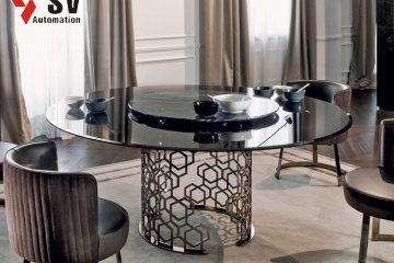Mẫu bàn kim loại được gia công bằng công nghệ Laser dùng làm bàn ăn