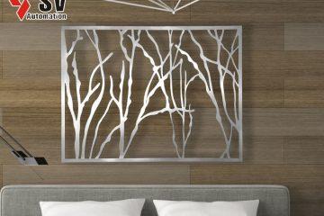 Tranh treo tường với họa tiết cắt Laser sáng tạo, có tính thẩm mỹ cao